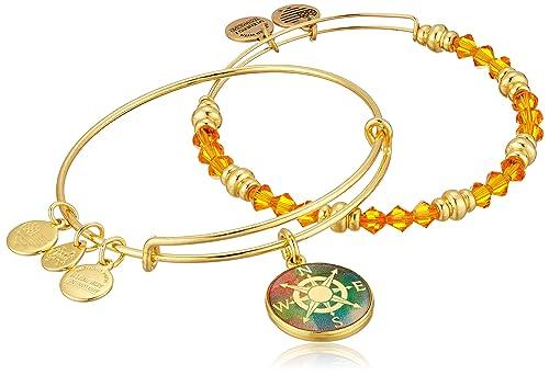 Alex and Ani Art Infusion Set, Compass Bangle Bracelet