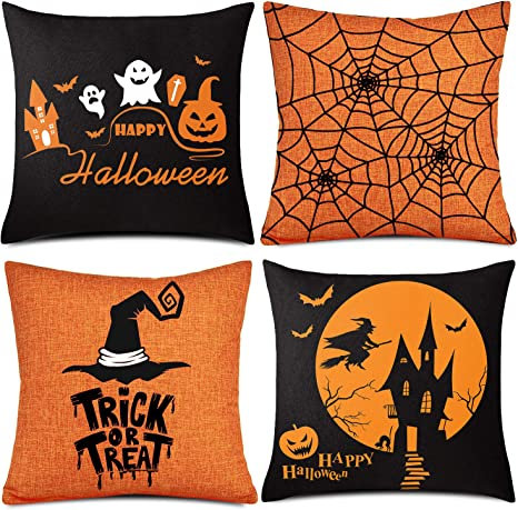 Halloween Festival Party Sofa Throw Cushion Cover Pillow Case Gifts 45 x 45 cm+