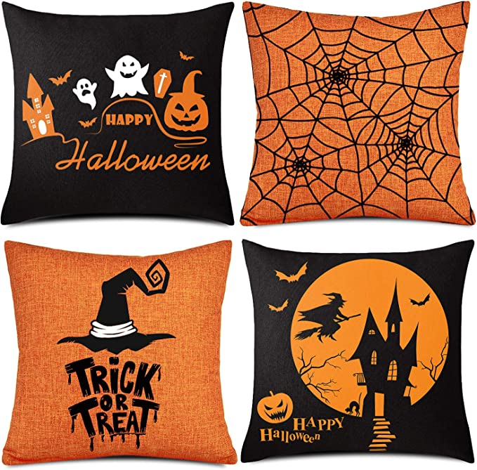 Hot Sell Halloween Witch Pillowcase Cushion Case Home Decoration Cushion Cover