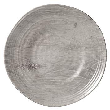 Merritt Driftwood Melamine Dinner Plates Set of 6  sc 1 st  Amazon.com & Amazon.com | Merritt Driftwood Melamine Dinner Plates Set of 6 ...