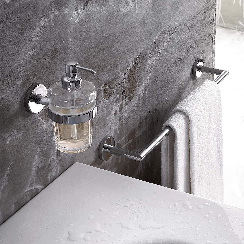 INDA Gealuna Porte-Serviettes en Laiton 9 x 65 x 5 cm Blanc