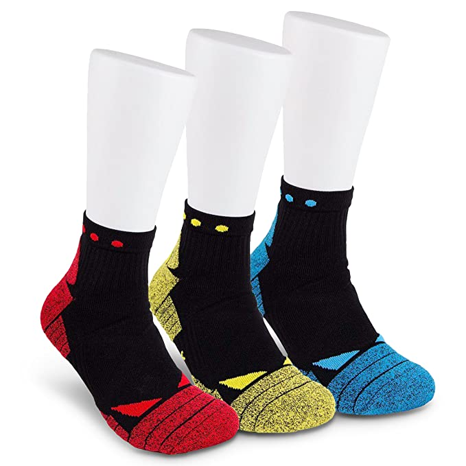 38b1ad3657 Hi-Performance Mens Compression Pro Sox- 3 Pack Quarter Socks for Athletic  Sports &