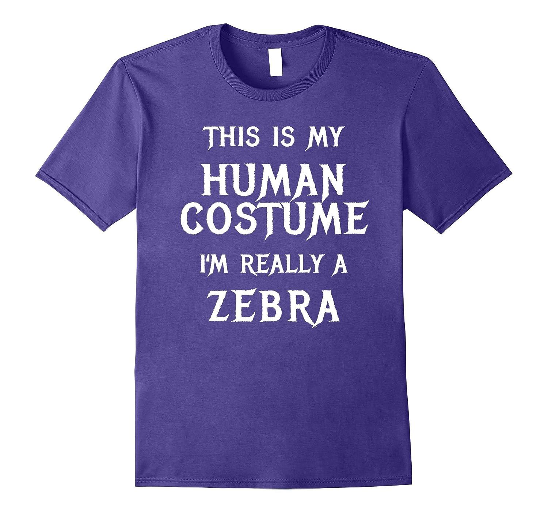 Zebra Halloween Costume Shirt Easy Funny for Men Boys Girls-T-Shirt