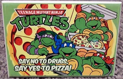 TMNT Teenage Mutant Ninja Turtles Pizza 2x3 Fridge Locker MAGNET; TMNT Teenage Mutant Ninja Turtles Pizza 2x3 Fridge Locker MAGNET; TMNT Teenage ...
