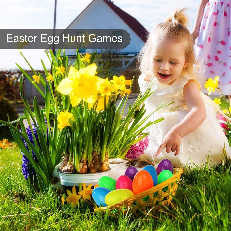 6 Colors Bulk Fillable Plastic Easter Eggs Perfect for Easter Egg Hunt//Surprise Egg//Easter Theme Party Favor Sotodik 100 Pieces Easter Egg Assortment