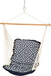 product image for Nags Head Hammocks Luxe Indigo Sunbrella Tufted Single Swing with Free Hanging Hardware, 350 LB Weight Capacity, Handcrafted in The USA, Perfect for Indoor or Outdoor Use
