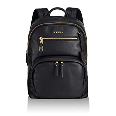 db2e7258a TUMI - Voyageur Hagen Leather Laptop Backpack - 12 Inch Computer Bag For  Women - Black