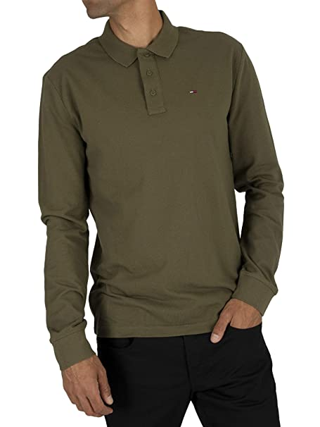 Tommy Hilfiger TJM Essential Longsleeve Polo Hombre: Amazon.es ...