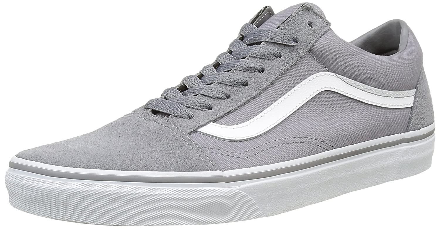 Vans Unisex Old Skool Classic Skate Shoes B01DYS8HTU 12.5 B(M) US Women / 11 D(M) US Men|(Suede/Canvas) Frost Gray/True White