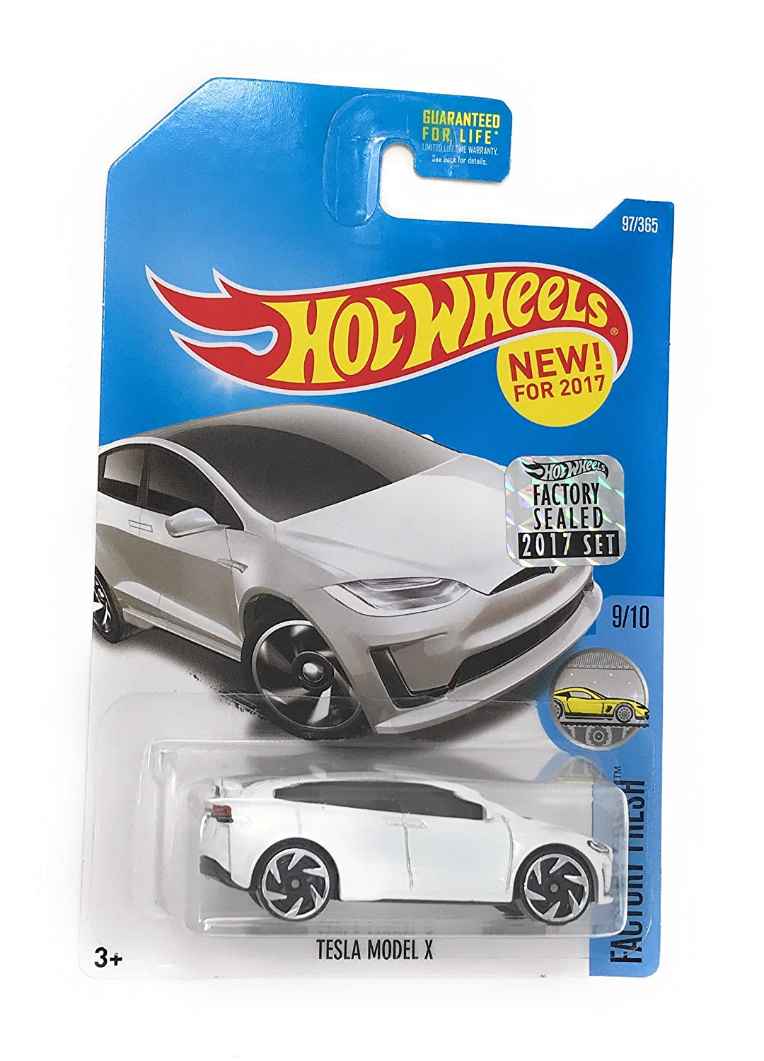 Hot Wheels 2017 Factory Fresh Tesla Model X 97 365 White