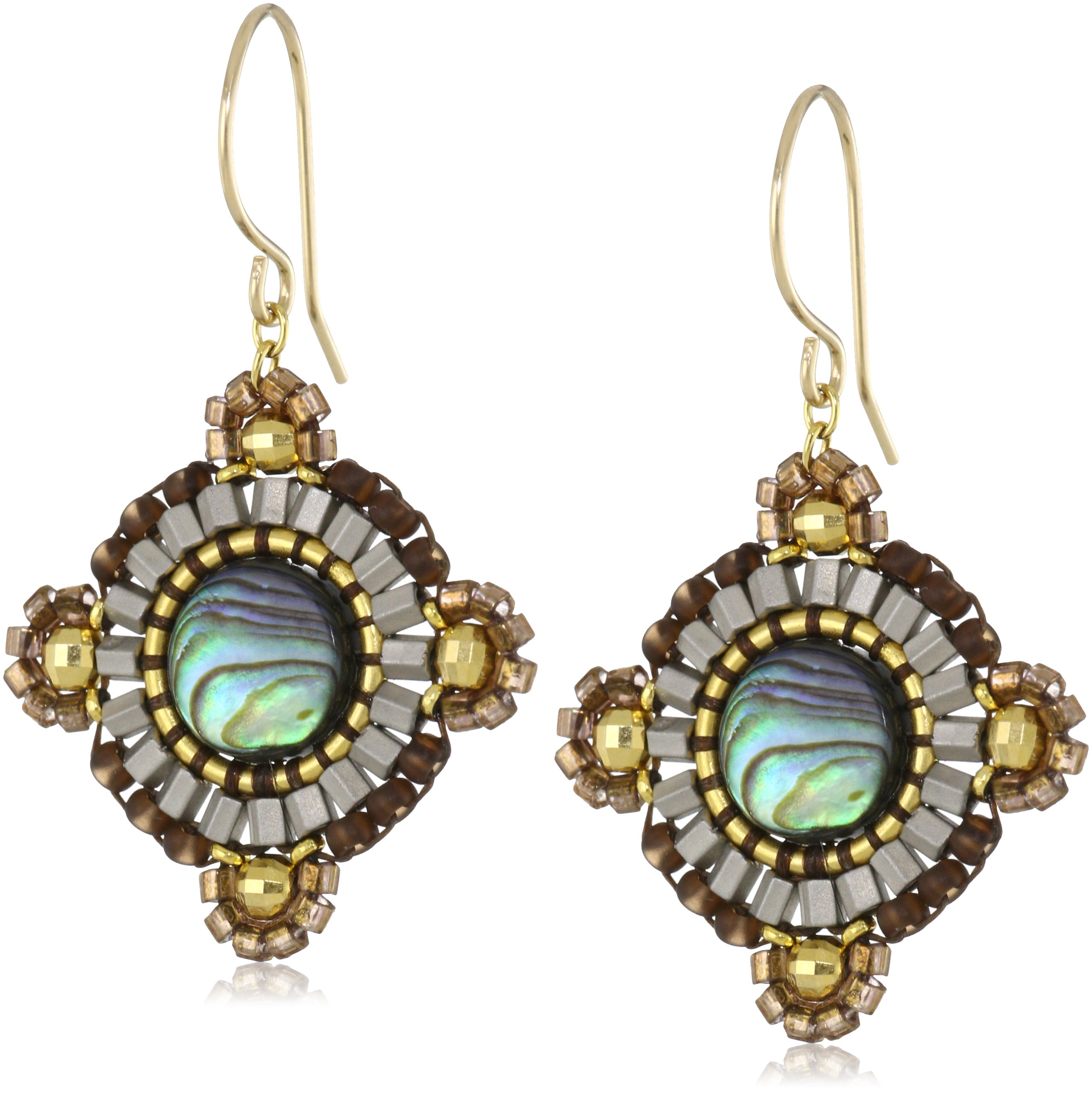 Miguel Ases Abalone Small Circular Earrings