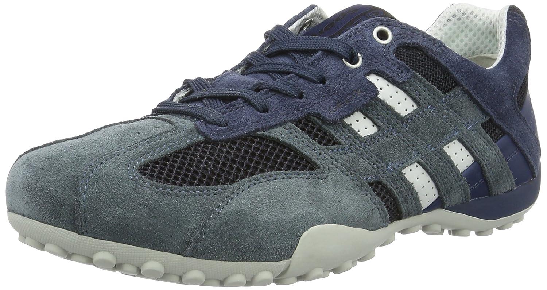 Scarpe GEOX Uomo Scarpe Basse Sneakers U Snake K blu in pelle nelle mis. 42  - mainstreetblytheville.org a6bdc155401