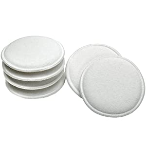 Viking Car Care 986017 Cotton Terry Wax Applicator Pads - 5 Inch Diameter, White, 6 Pack