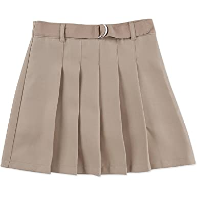 3dc30d940 Amazon.com: George Girls' School Uniform - Belted Pleated Scooter Skirt:  Clothing