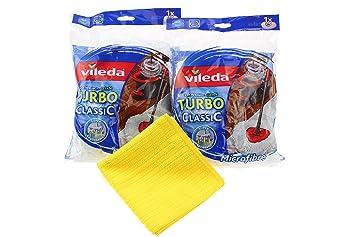 siluk 2 unidades Vileda EASYWORLD Anillo & Clean fregona para almohada con microfibra Easy Wring