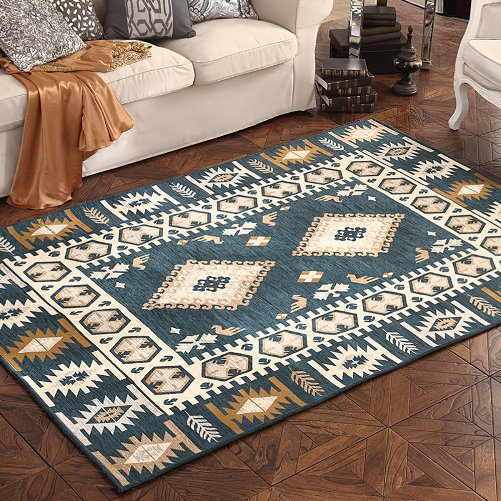 Carpet rug Retro garden style classical and stylish art Environmental protection Art living room bedroom mats Water absorption ( Size : 120cm180cm , Style : B )