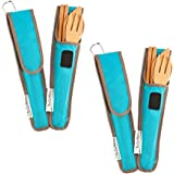 To Go Ware, Repeat Bamboo Utensil Set Agave/Teal, 1 Count