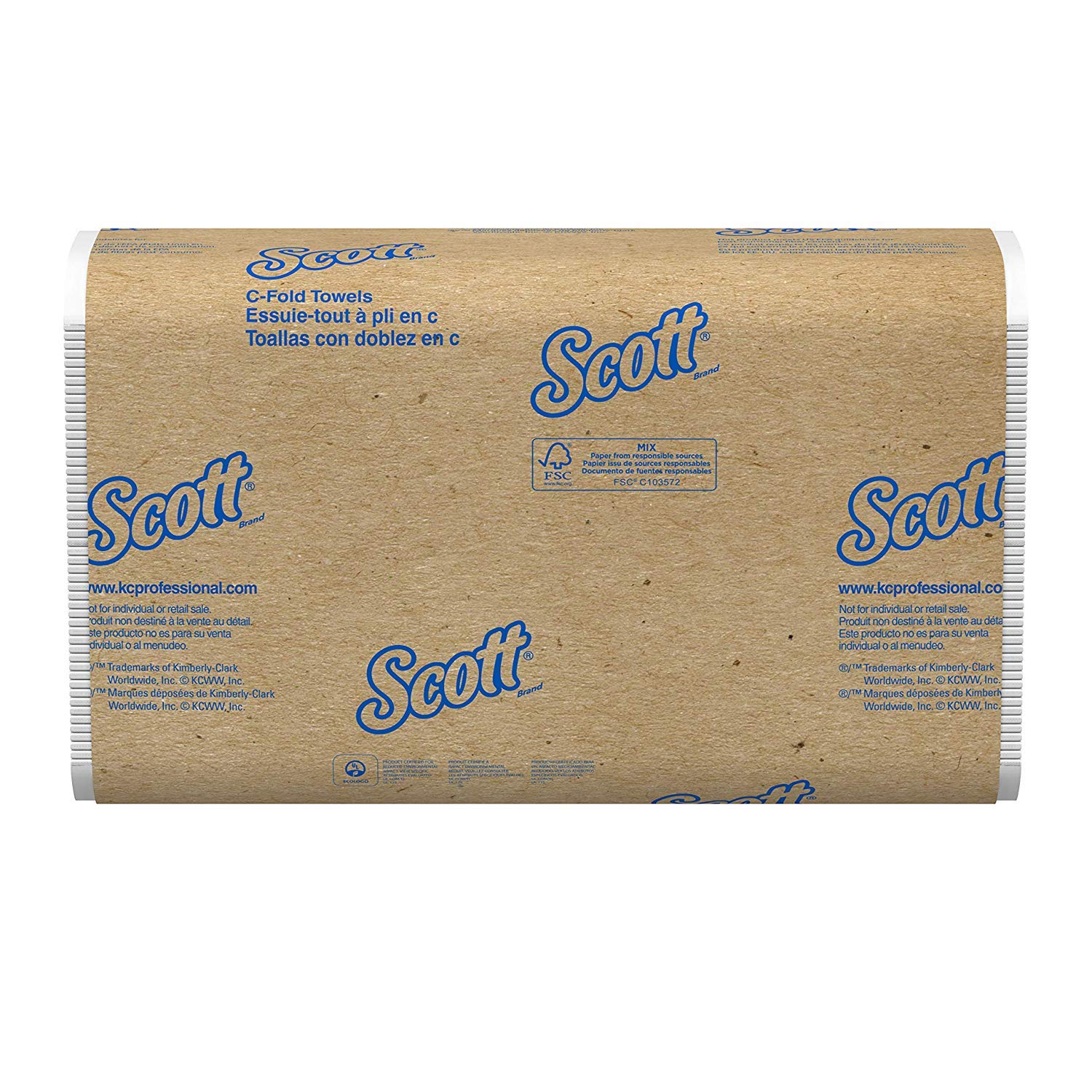 Scott QWVB 03623 C-Fold Paper Towels, Convenience Pack, 10 1/8 x 13 3/20, White, 200 per Pack, 4 Cases of 9 Packs