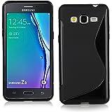 Samsung Tizen Z3 Case, Ziaon (TM) Soft Silicone S Line Back Case Cover for Samsung Tizen Z3 - Black