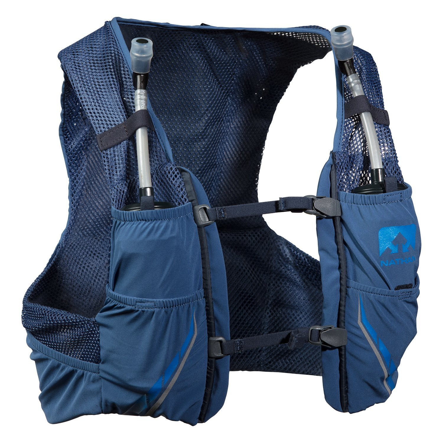 Nathan NS4544-0377-31 Male Vapor Zach 2.5L Running Hydration Packs, True Navy/Blue Nights, X-Small