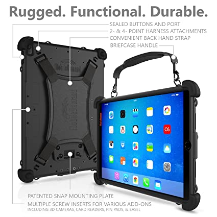 size 40 d1460 09997 MobileDemand, LC Most Rugged iPad Case - 9.7-inch. Heavy Duty Protective  case for Apple iPad Pro - MIL-STD-810G: Passed 10-Foot Drop Test