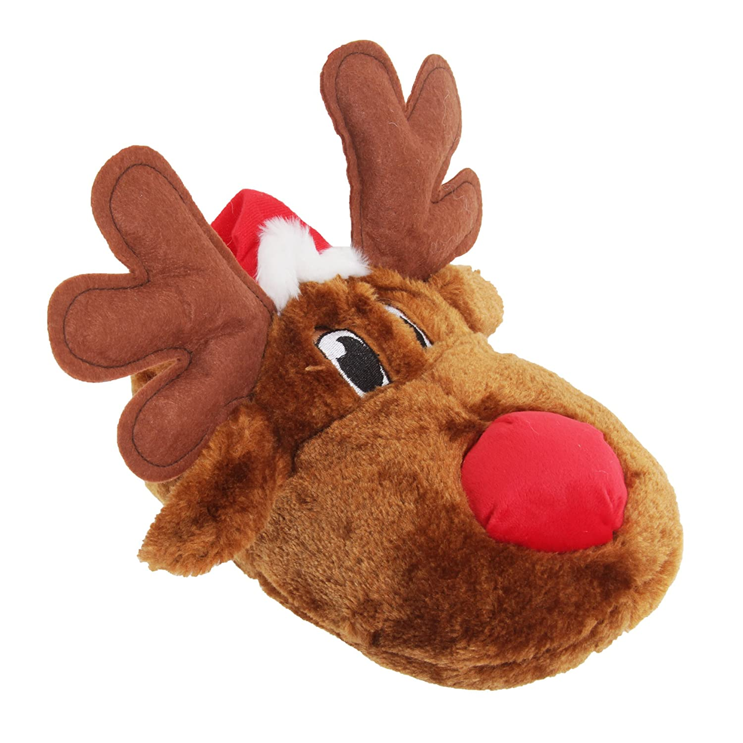 Amazon.com | Adults Unisex Christmas Reindeer Design Novelty Slippers |  Slippers