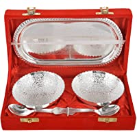 Jaipur Ace Decorative Bowl and Spoon with Tray Set, Best for Anniversary, Coorporate, Return Gift