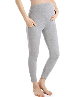 Gratlin Womens Thick Winter Maternity Over Bump Leggings Full Ankle Warm Soft