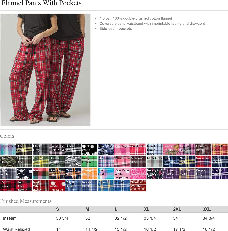 Alpha Kappa Delta Phi Flannel Pajama Pants