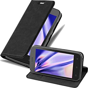 Cadorabo Book Case Works with Lenovo B in Night Black - with Magnetic Closure, Stand Function and Card Slot - Wallet Etui Cover Pouch PU Leather Flip