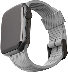 [U] by UAG Compatible with Apple Watch Band 40mm 38mm, iWatch Series 6/5/4/3/2/1 & Watch SE, Soft Stylish Dot Silicone Pattern Sport Replacement Strap, Grey