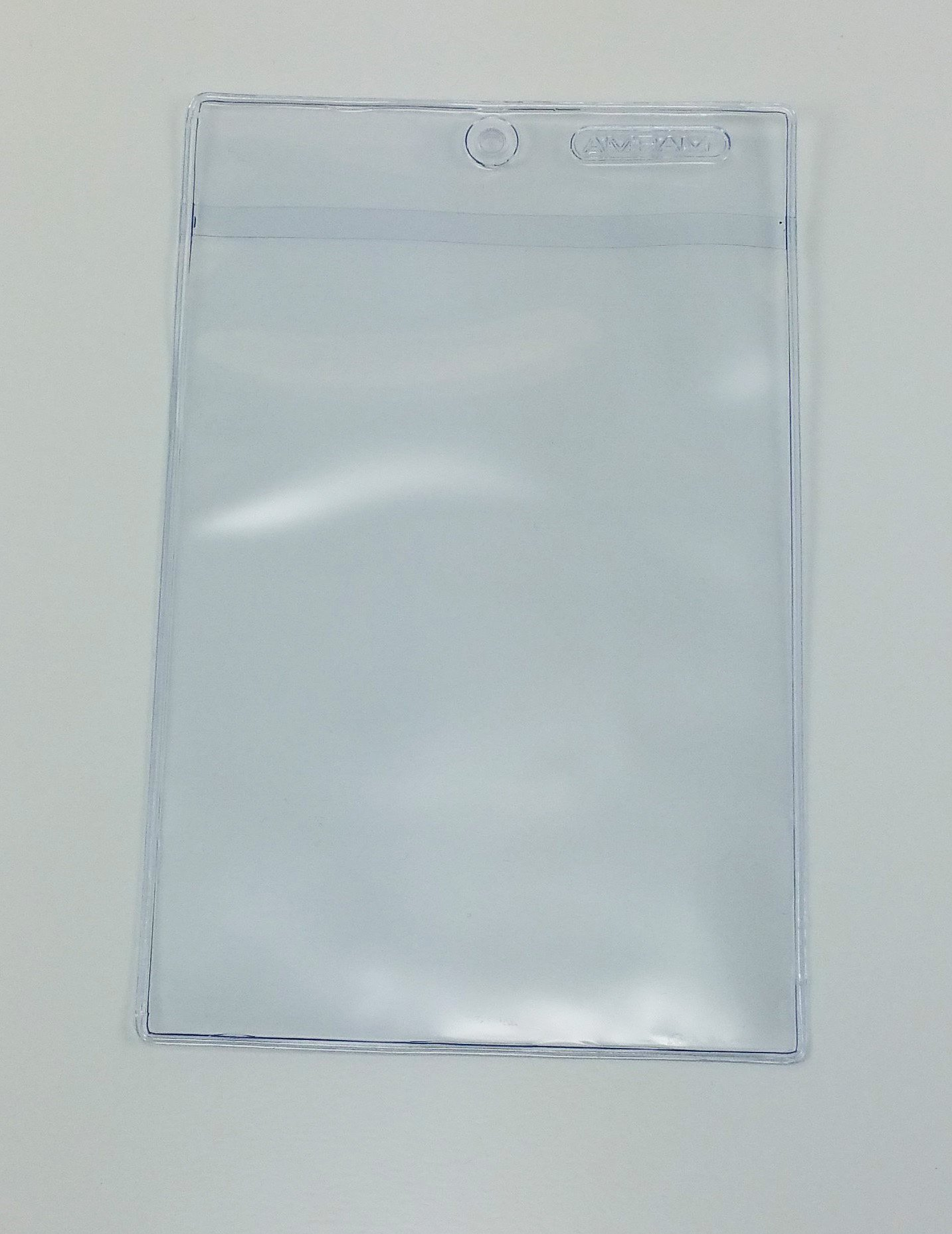 Amram 4 Inch x 6 Inch Clear Vinyl Tag Holders 50 Pieces Plus 100 Cable Ties for Hanging
