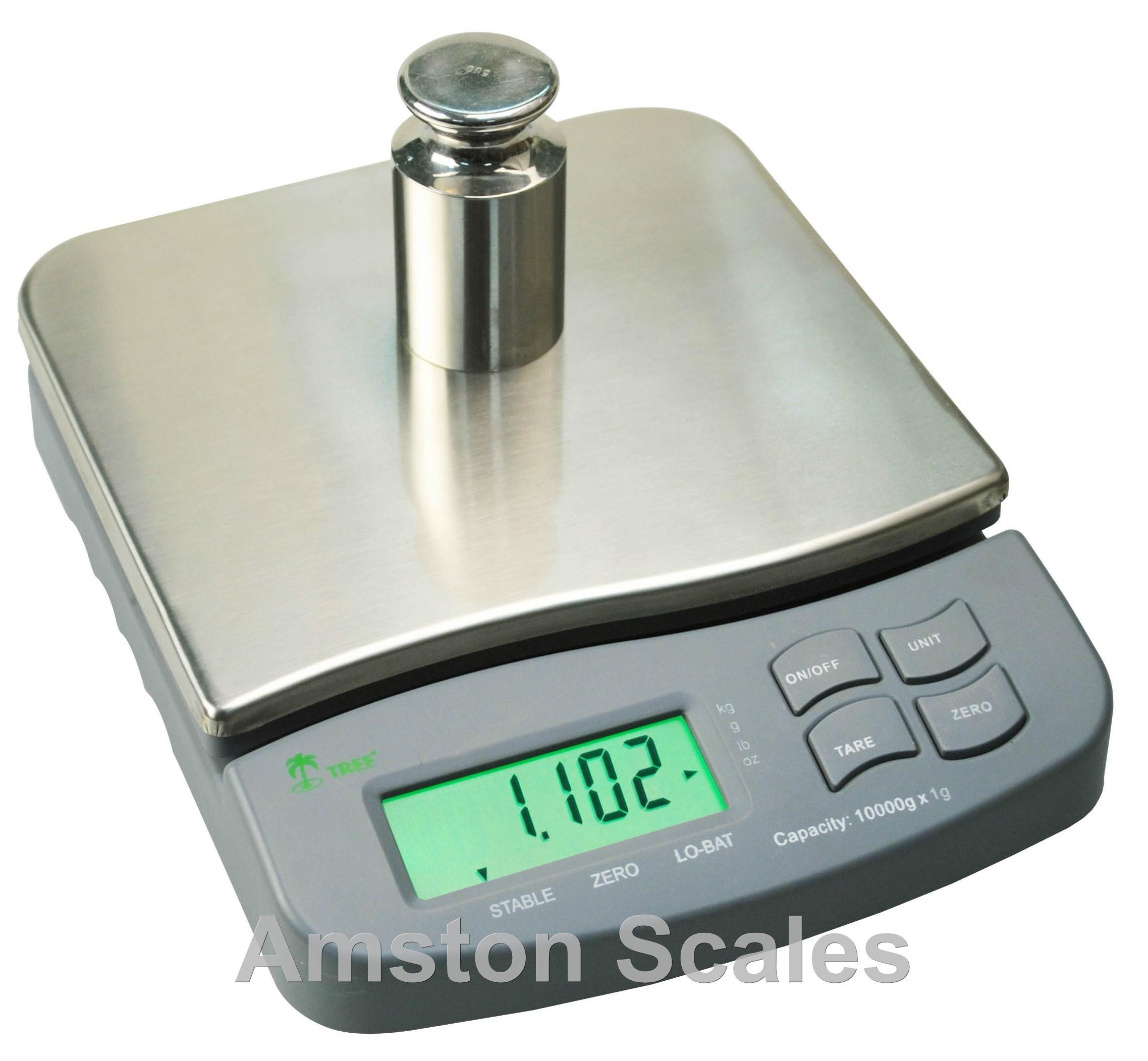 2500 gram x 0.1 gram / 5.5 LB mid resolution digital bench balance scale 6x7 inch platform Gun Powder Gold Jewelry by Amston Scales