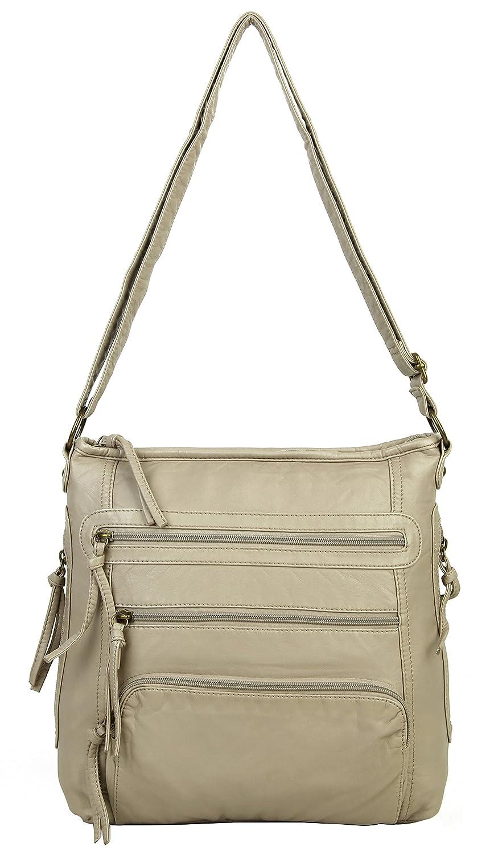 f4436ac0c673 Soft Vegan Leather Crossbody Purse Shoulder Bag for Women with ...