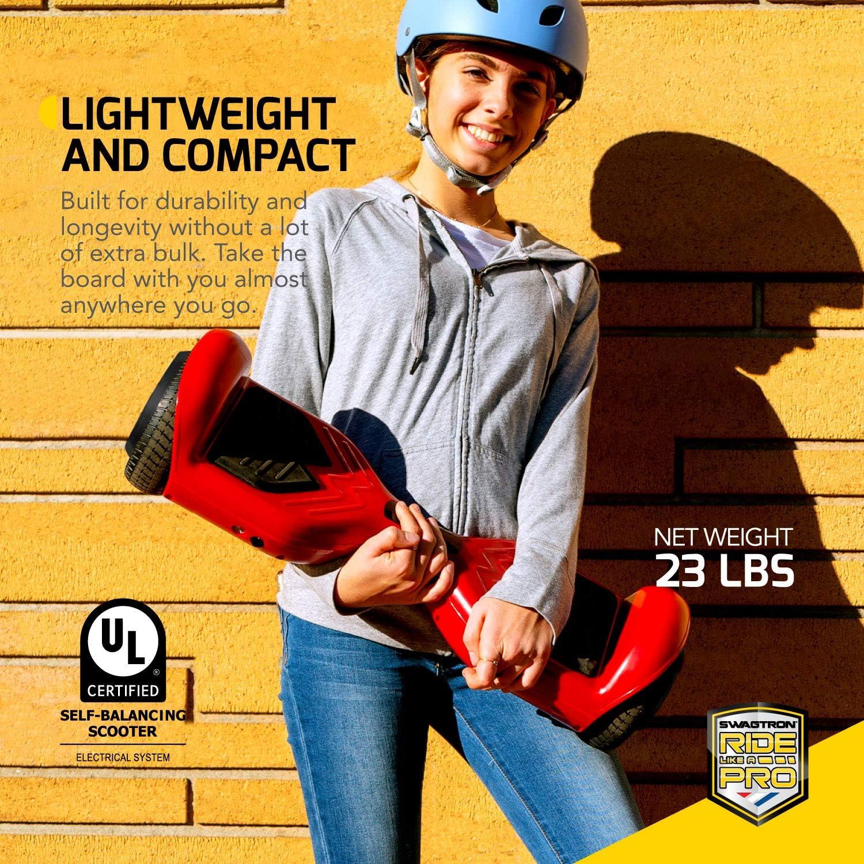 Swagboard Twist Lithium-Free Kids Hoverboard LED Black - 4