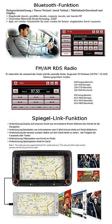A de Sure 7 pulgadas 2 din Bluetooth FM Full 3d Kudos Map 3 G DAB + Radio de coche OBD TMC Navi DVD GPS Radio RDS para Volkswagen Passat Golf 5 ...
