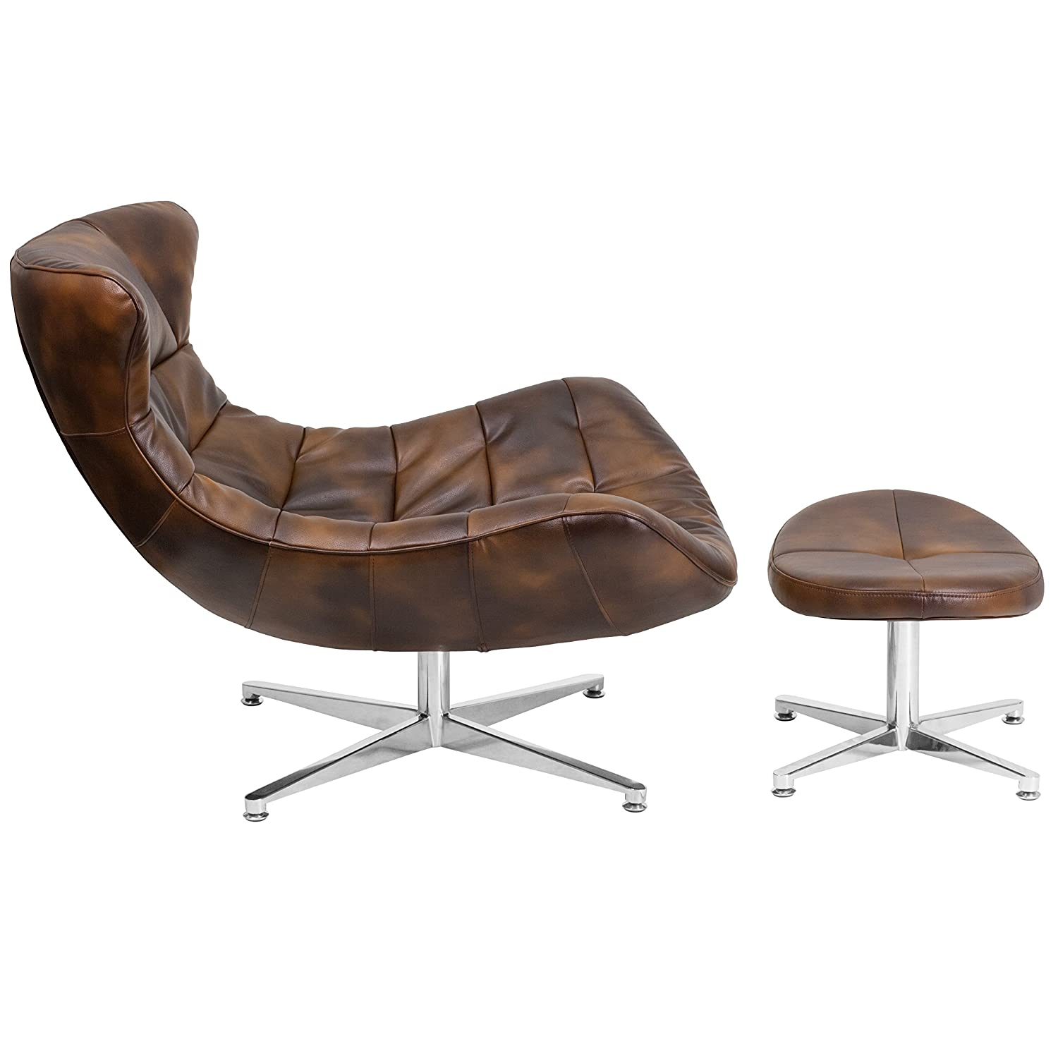 Amazon Flash Furniture Bomber Jacket Leather Cocoon Chair