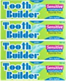 Squigle Tooth Builder Toothpaste (Stops Tooth Sensitivity. Prevents Canker Sores, Mouth Ulcers, Bad Breath,Chapped Lips, Perioral Dermatitis. Soothes and Protects Dry Mouths. No SLS.) - 4 Pack
