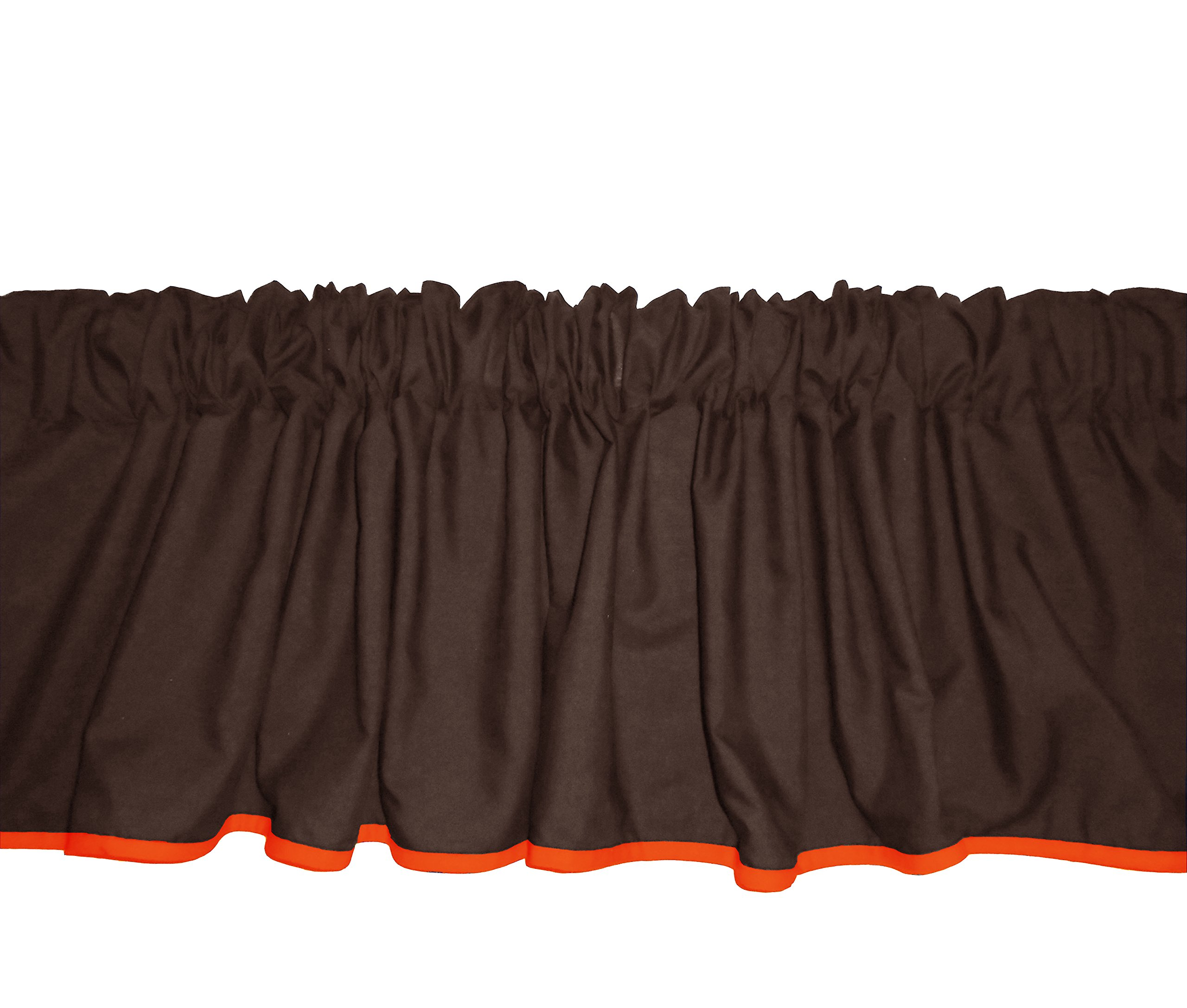 Baby Doll Bedding Solid Two tone Window Valance, Brown/Orange