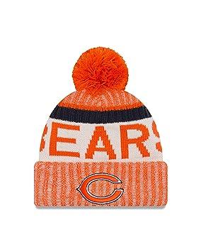 826a026e8a82f1 New Era Adult Men NFL Cold Weather Reverse Team Sport Knit Beanie, Orange,  One