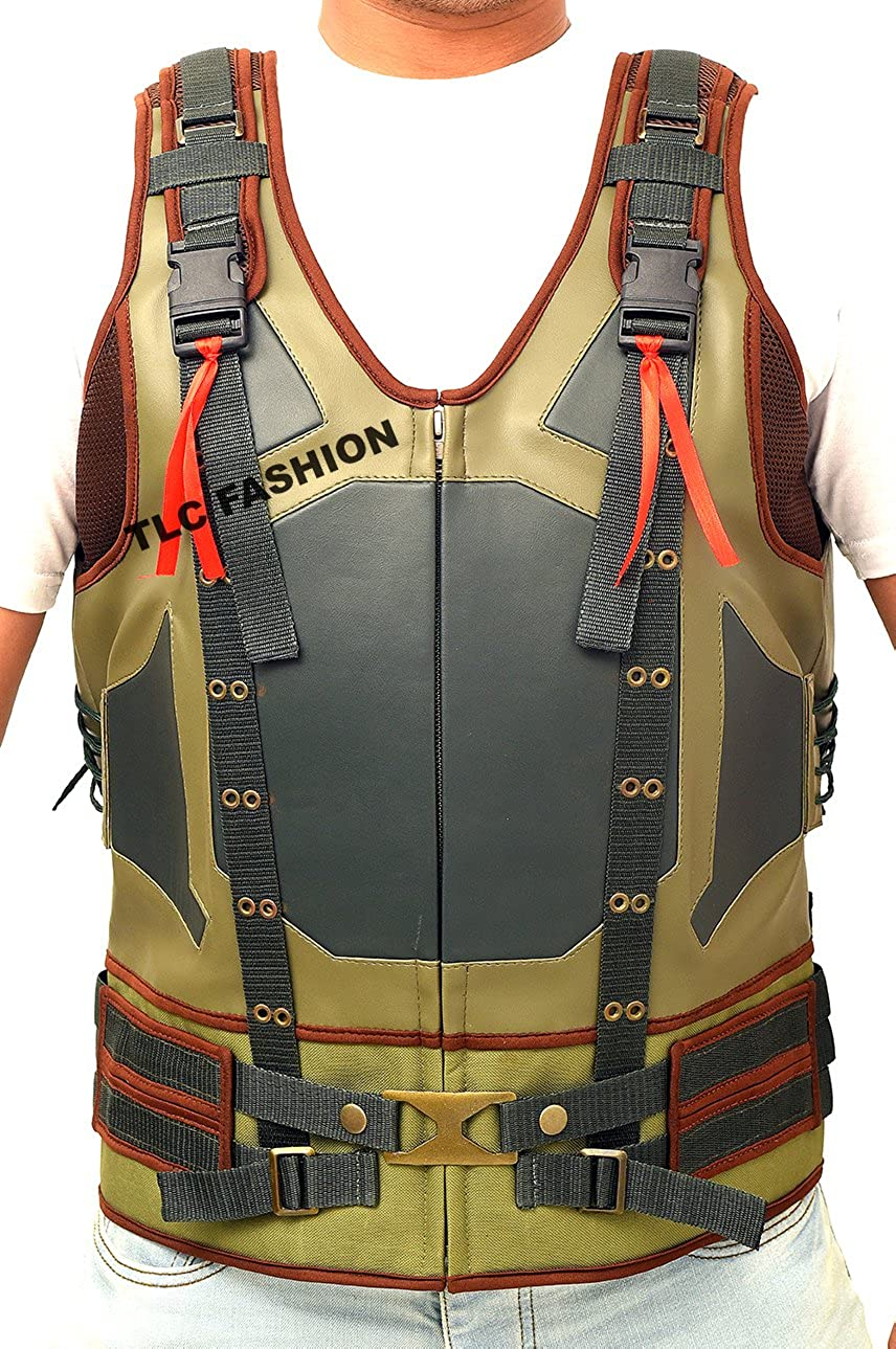 6d316b47aa43 TLCFashion The Dark Knight Rises Vest- Bane Tom Hardy Leather Vest THBV-001
