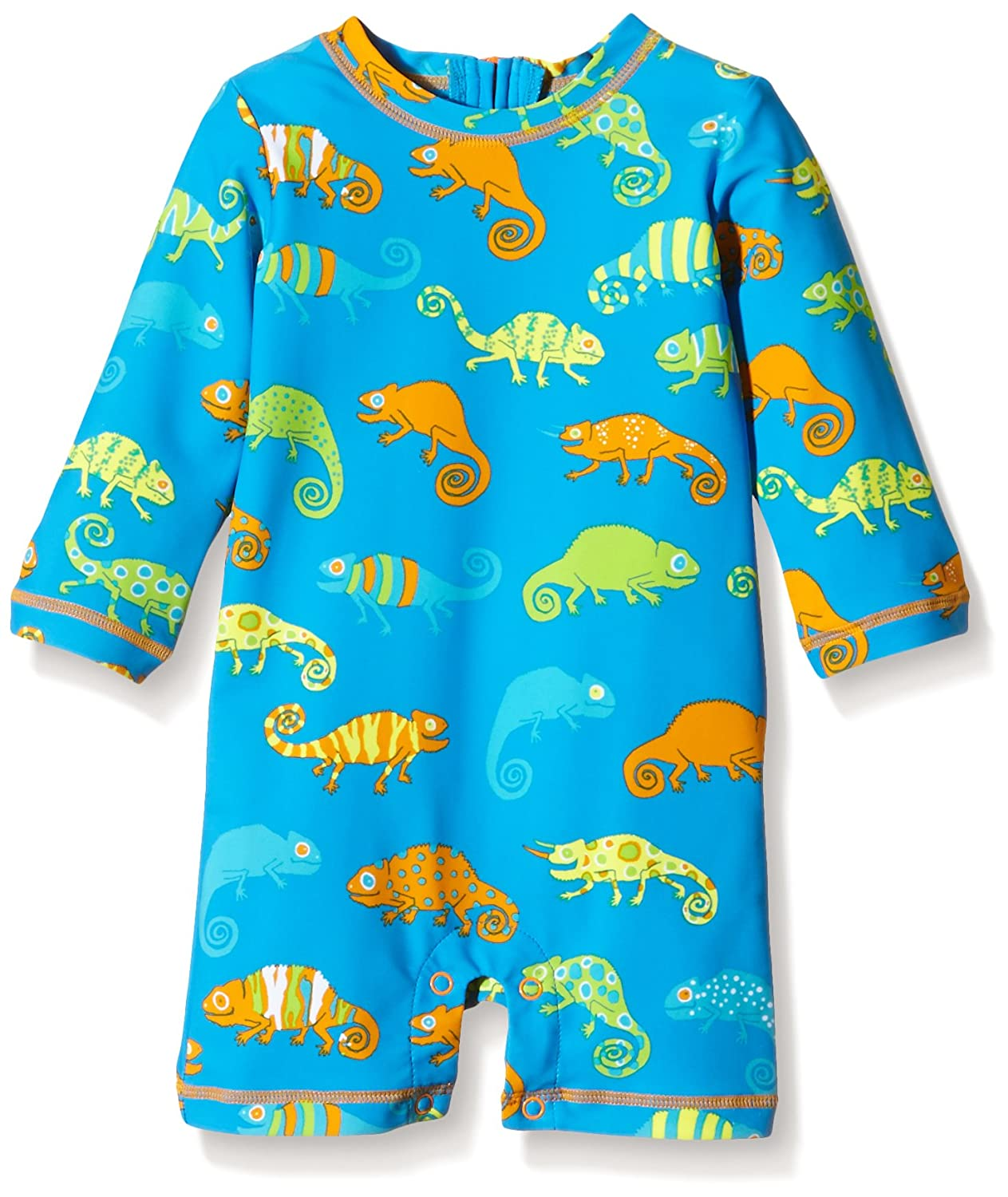 Hatley Baby Boys' Crazy Chameleons Rash Guard Blue 6-12 Months Hatley Children's Apparel BS6LEON001