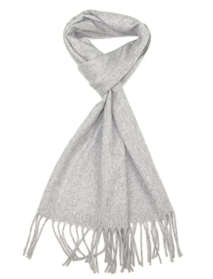 5e1803b3f Cashmere Scarf Light Grey - Womens & Mens Pure Cashmere Wool Winter Scarfs  - Scarves for