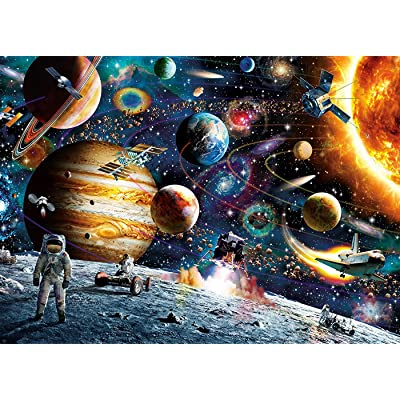 ZFCGEE 1000 Piece Puzzle for Adults, Funny Puzzles Paper Painting Jigsaw Gifts Painting Scenery Boring Toy at Home (Space): Toys & Games