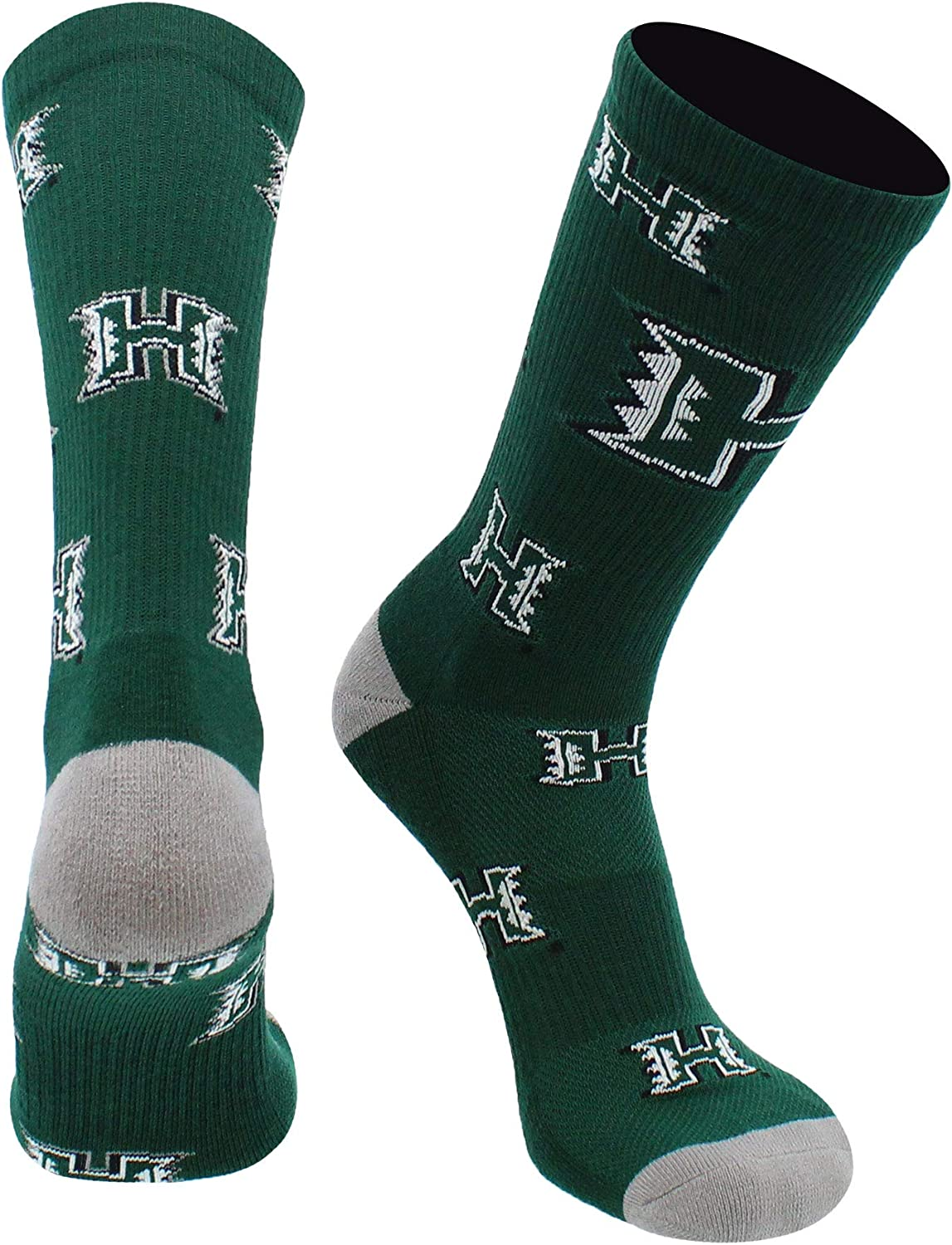 TCK Hawaii Rainbow Warriors Socks University of Hawaii Rainbow Warriors Mayhem Crew Socks