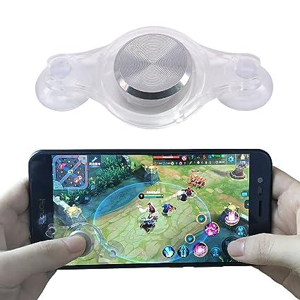 Mobile Joystick, Yeebline Aluminium Smartphone Mini Game Joystick Rocker  Touch Screen Joypad for iPhone/iPad / Android Phones Fling - Silver