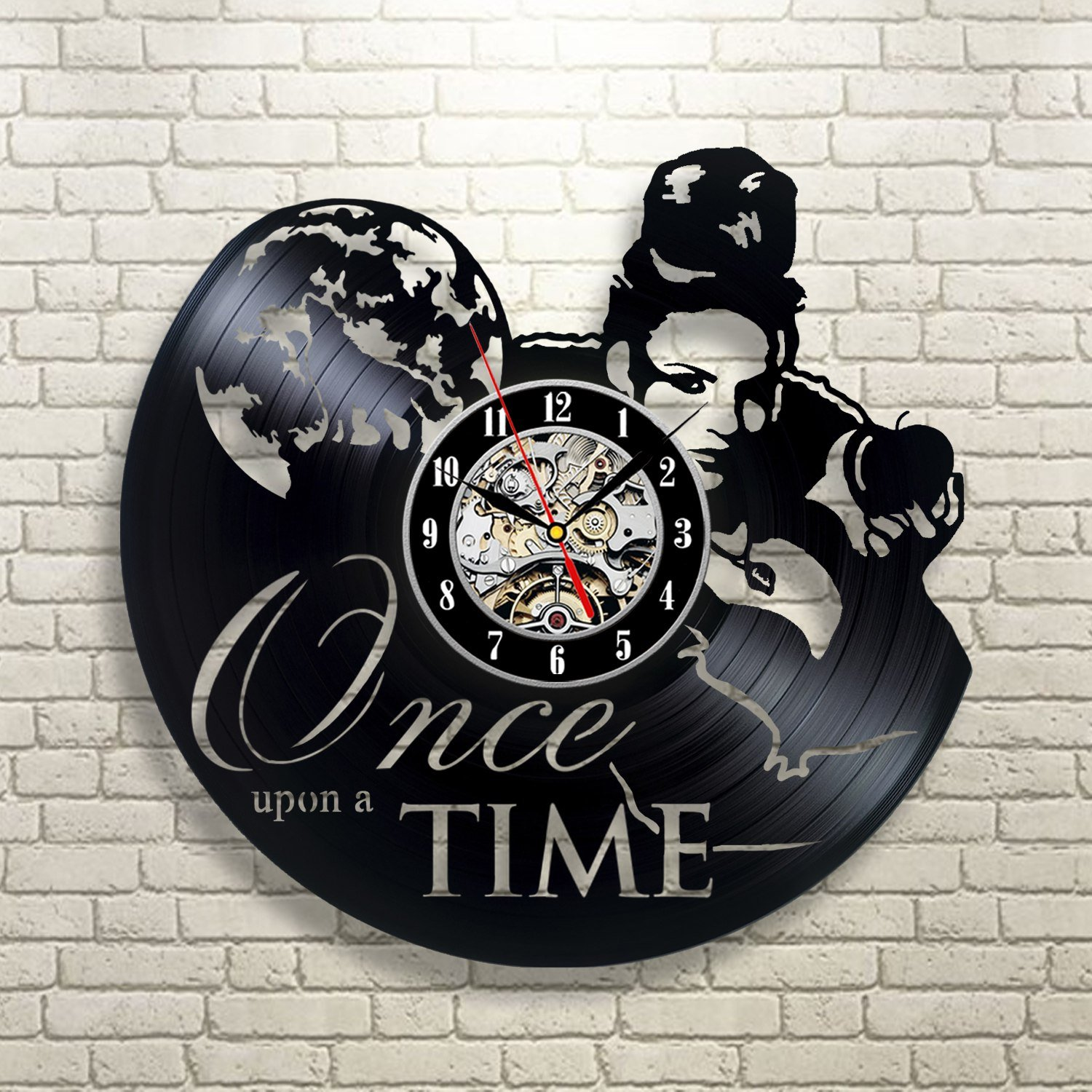 Amazon Once Upon A Time Vinyl Record Clock Art Home Decor Wall Design Kitchen