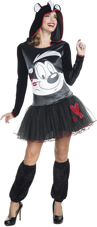 Disfraz de Pepe Le Pew Looney Tunes para mujer: Amazon.es ...