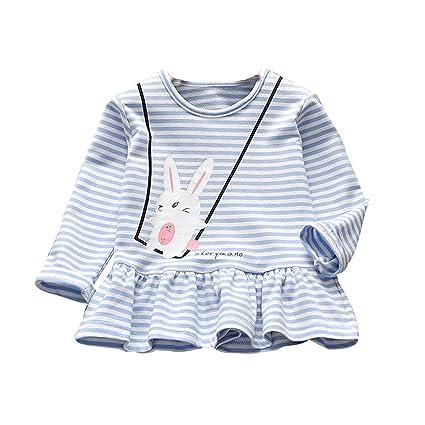 01c99b5892a5 Amazon.com - Fheaven (TM) Kids Baby Girl Autumn Winter Dress Cartoon ...