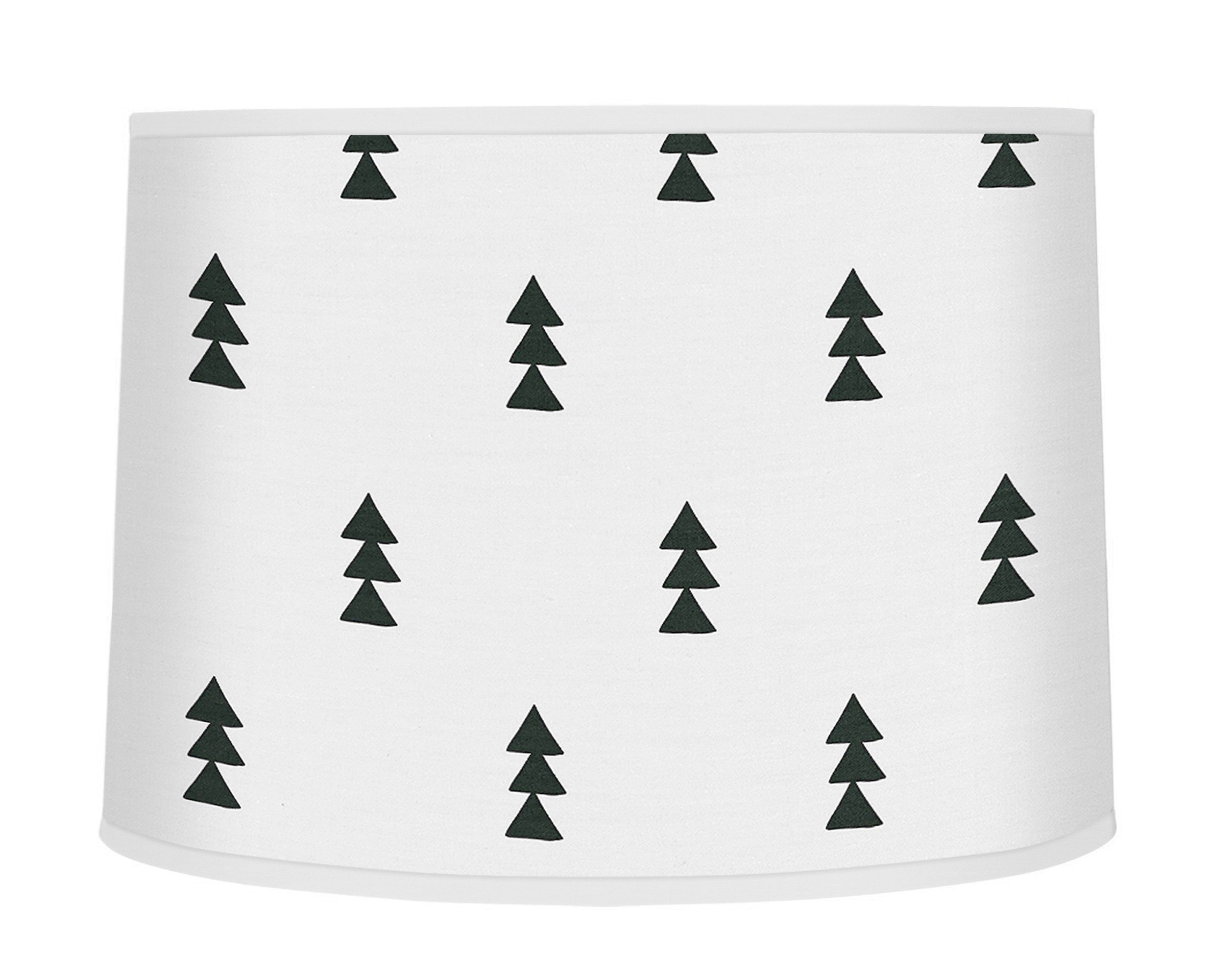 Sweet Jojo Designs Black and White Triangle Tree Lamp Shade for Bear Mountain Watercolor Collection by